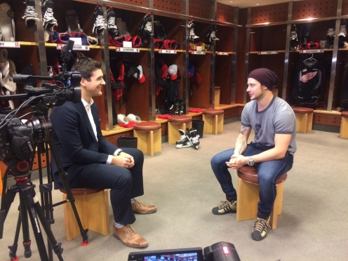 Tomas Tatar WXYZ interview with Brad Galli